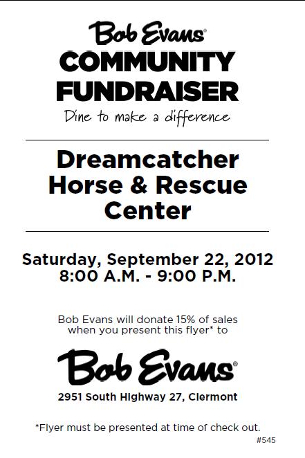 DreamCatcher Bob Evans FundRaiser